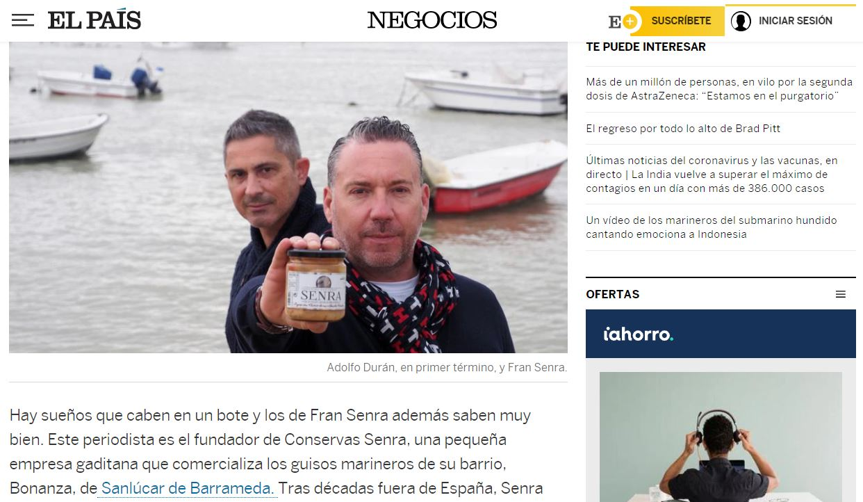 El sabor de Cádiz en un tarro de cristal el pais